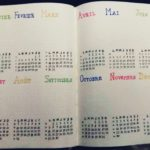 Bullet journal, calendrier annuel 2020, Emmanuelle Germond cc-by-sa