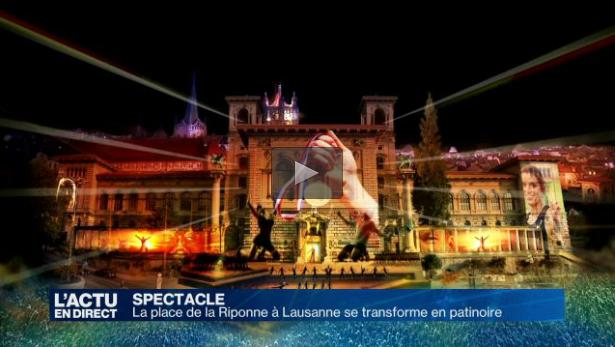 La Télé – La place de la Riponne à Lausanne se transforme en patinoire